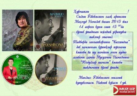 Mahmud Namozov yangi albomini taqdim etadi